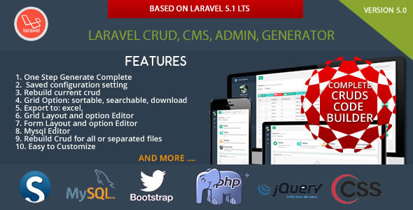 Laravel CRUD - CMS - Sximo 5 LTS PHP Script Download - Horje