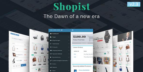 Shopist - Laravel Multivendor eCommerce and Designer PHP