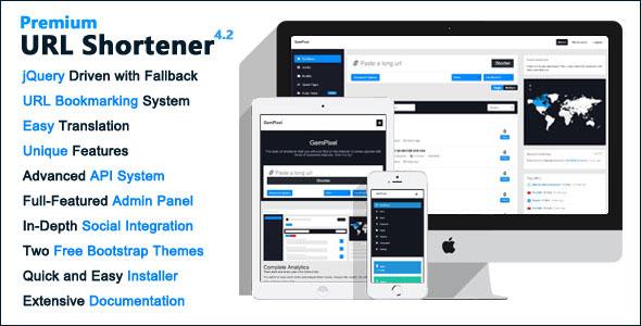 Premium URL Shortener PHP Script Download