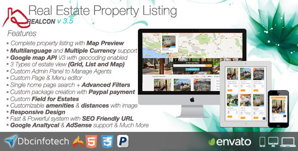 Realcon Real Estate Property Listing v3.4 PHP Script Download