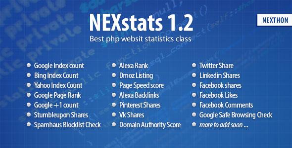 NexStats Class v1.3 PHP Script Download