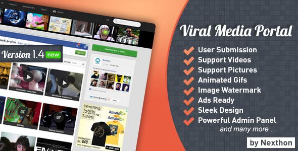 Viral Media Portal v1.3.1 PHP Script Download