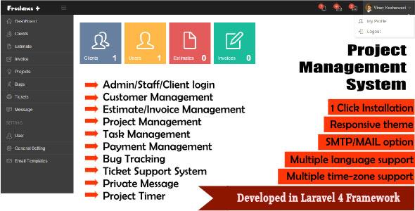 FreeLance Plus Project Management System PHP Script Download