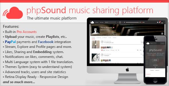 phpSound v1.3.3 – Music Sharing Platforms PHP Script Download