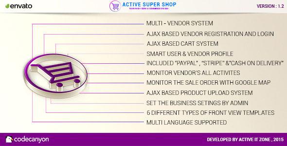 Active Super Shop Multi-vendor CMS PHP Script Download