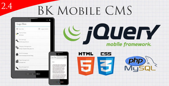 jquery Mobile Website With Full Admin Panel PHP Script Download