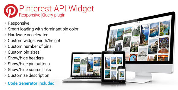 Pinterest API Widget – Responsive jQuery Plugin PHP Script Download