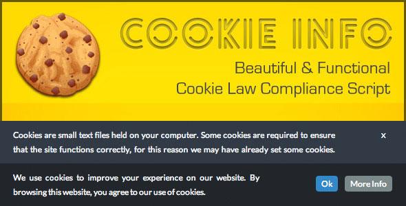 CookieInfo.js – EU Cookie Law Compliance Script PHP Script Download