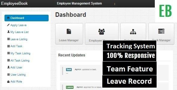 EmployeeBook Employee Management System PHP Script Download