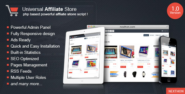 Universal Affiliate Store PHP Script Download