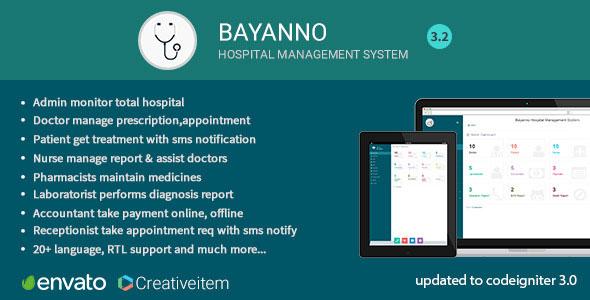 Bayanno Hospital Management System PHP Script Download