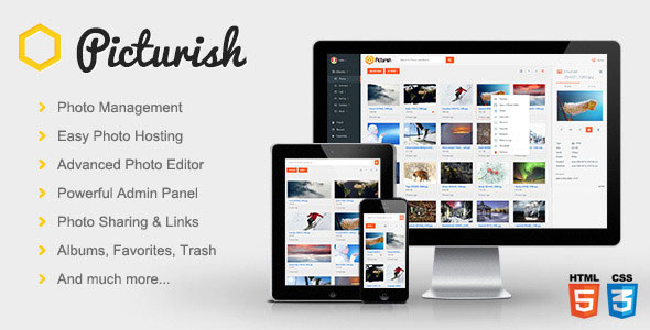Picturish – Image hosting, editing and sharing PHP Script Download