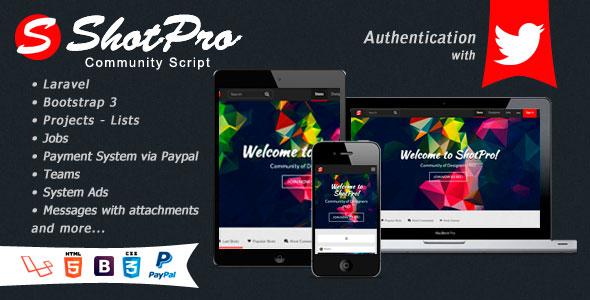 ShotPro Community Script PHP Script Download