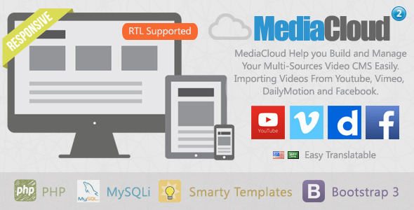 MediaCloud – Video Aggregator CMS PHP Script Download