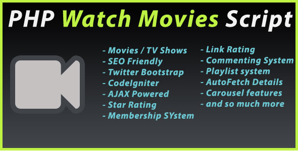 PHP Watch Movies Script PHP Script Download