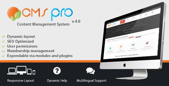 CMS pro – Content Management System PHP Script Download