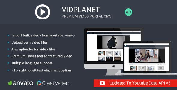 Vidplanet Premium Video Portal Cms PHP Script Download