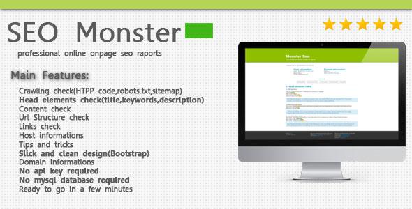 SeoMonster – OnPage SEO Raporting Script PHP Script Download