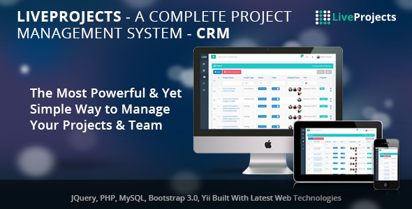 LiveProjects – Complete Project Management CRM PHP Script Download