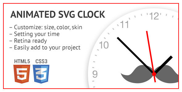 Animated SVG clock PHP Script Download