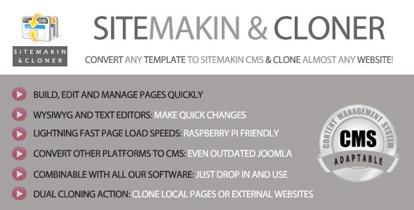 Sitemakin and Cloner v6 – Fast CMS and Cloner PHP Script Download