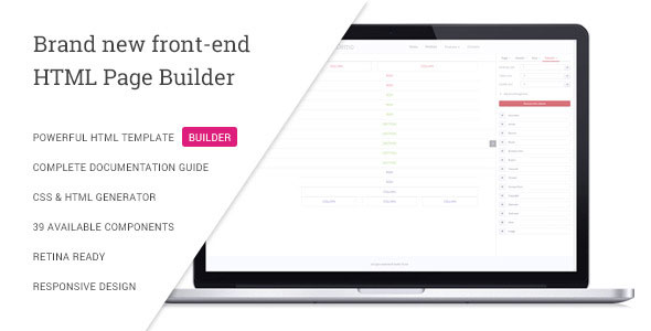VSBuilder – Pure HTML and CSS Page Builder PHP Script Download