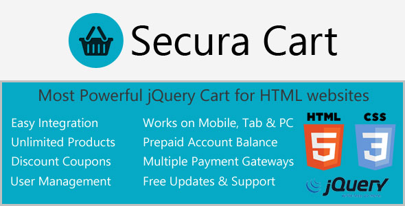Ajax Cart for HTML websites with Digital Products PHP Script Download