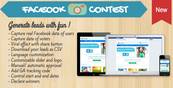 Photo Contest for Facebook, Mobile, Tabs and Websites PHP Script Download