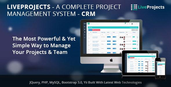 LiveProjects v3.0 – Complete Project Management CRM PHP Script Download