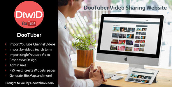 DooTuber Video Sharing Website PHP Script Download