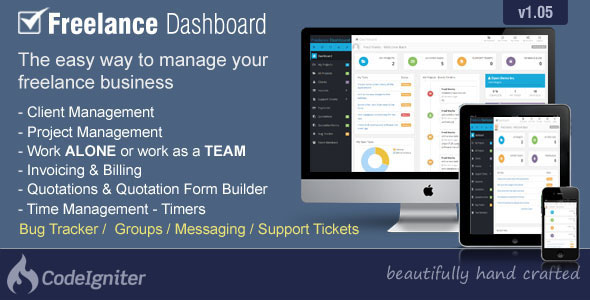 Freelance Dashboard – Project Management CRM PHP Script Download