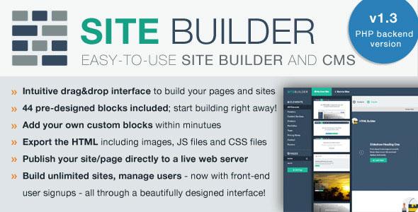 SiteBuilder Lite – Drag&Drop site builder and CMS PHP Script Download