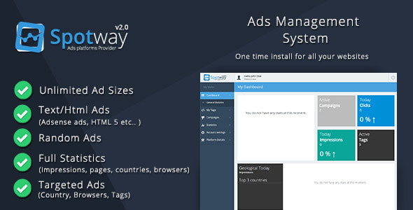 Ads Management System for Banners & Html PHP Script Download