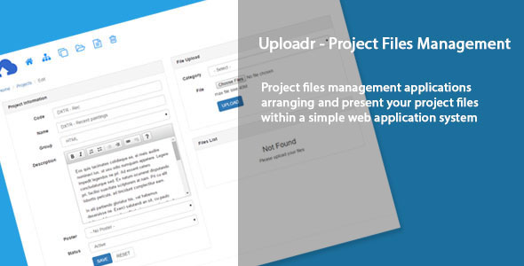 Uploadr – Project files management PHP Script Download