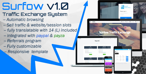 Surfow V1.0 – Traffic Exchange System PHP Script Download