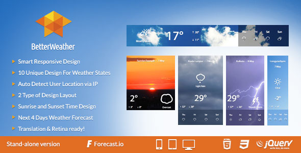 Better Weather – Stand-alone PHP Script Download