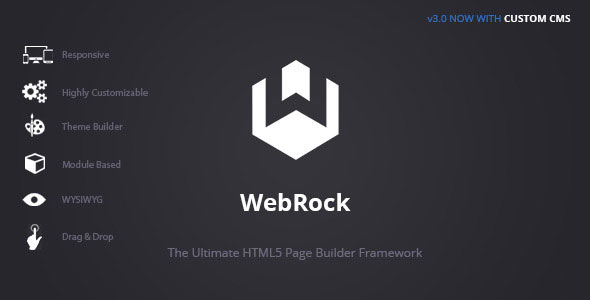 WebRock – Page Builder Framework for HTML5 PHP Script Download