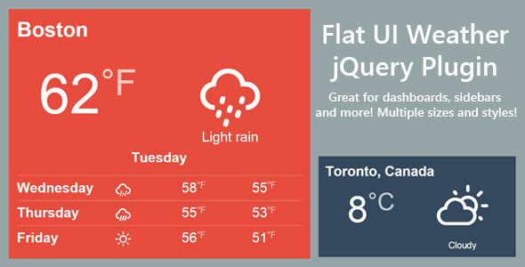 Flat Weather jQuery Plugin PHP Script Download