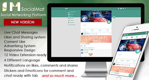 SocialMat v1.3 – Social Networking Platforms PHP Script Download