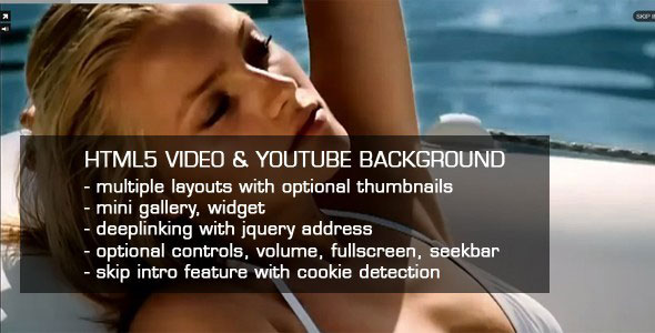 HTML5 Video & Youtube background PHP Script Download