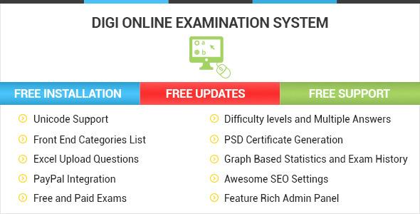 DOES – Digi Online Examination System PHP Script Download
