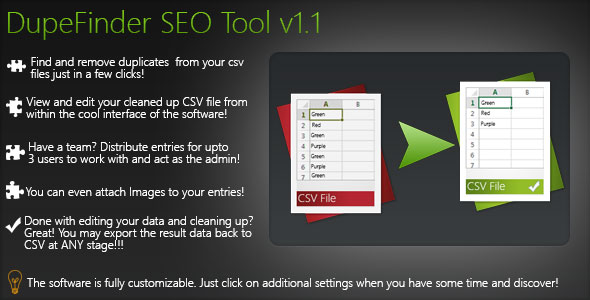 Duplicate Finder SEO Tool (CSV To MySQL) PHP Script Download