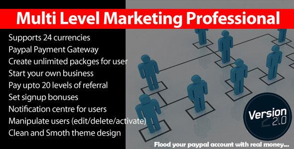 Multi Level Marketing Professional PHP Script Download