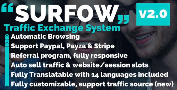 Surfow V2.0 – Traffic Exchange System PHP Script Download