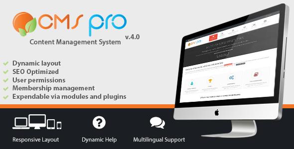 CMS pro v4.1.0 – Content Management System PHP Script Download