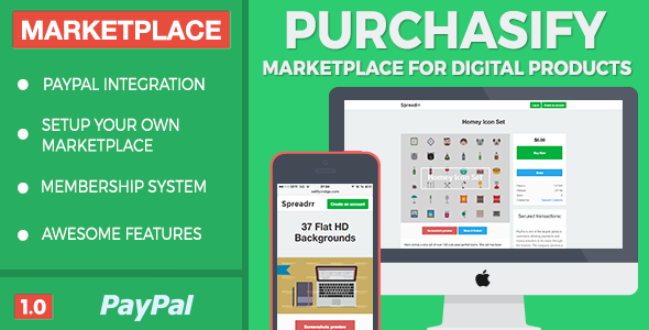 Purchasify – Marketplace for Digital Products PHP Script Download