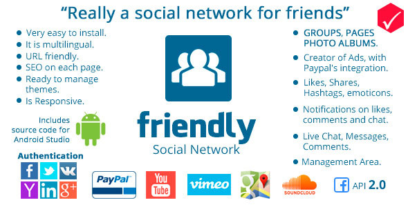 Friendly Social Network PHP Script Download
