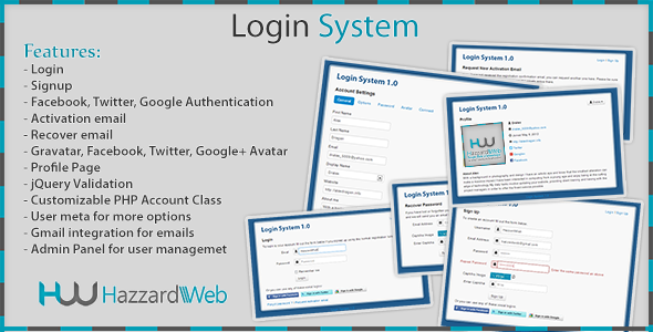 Account System Multi-Feature PHP Script Download