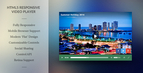 Modern HTML5 Responsive Video Player PHP Script Download