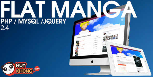 Flat manga – Build your own manga reader site PHP Script Download